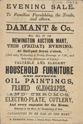 Advert For Damant & Co, Household Store